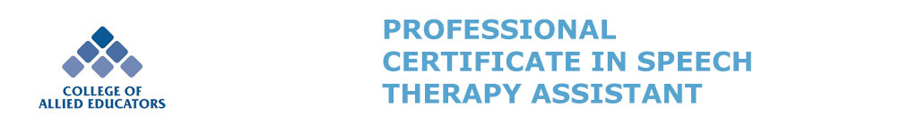 CAE Professional Certificate in Speech Therapy Assistant